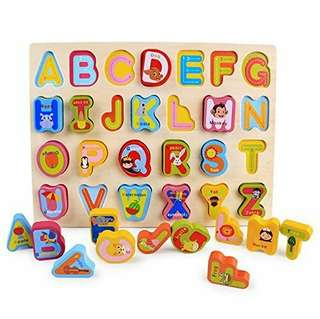 Wooden chunky Alphabet