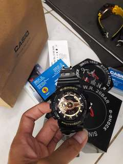 jam g shock GA - 110 black gold