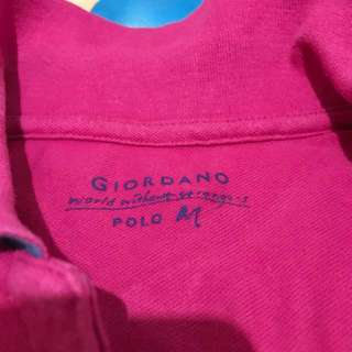 giordano polo M number 10 hot pink