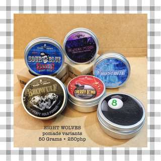 Eight Wolves Pomade Variants