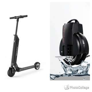 Combo offer - Electronic Scooter Fastwheel F0 and Airwheel Mars rover Q3