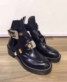 Balenciga Black Ceinture Ankle Boot Size: 35,35.5,36 Full Set Real and New