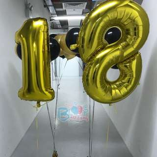 """🚚 40"""" Number Foil Balloons (Helium)"""