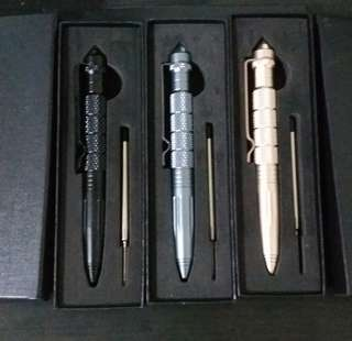 [ Hign Positive Rating ] 《 Tungsten 》 Portable Outdoor Self Defense EDC Tactical Survival Emergency Glass Breaker Pen Emergency Life-saving Tool Multi-function Camping Tool for Writing
