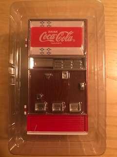 可口可樂收藏品-可樂汽水機金屬儲物盒
