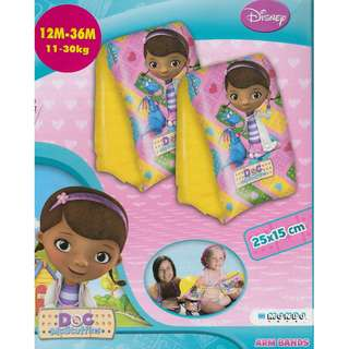 🚚 (Free normal postage) Disney Doc McStuffins Inflatable Swimming Arm Band Float