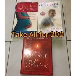 Preloved Assorted books (Fearless Pregnancy and Child Sense)