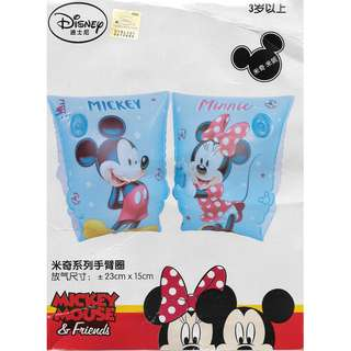 🚚 (Free normal postage) Disney Mickey and Minnie Mouse Blue Inflatable Swimming Arm Band Float
