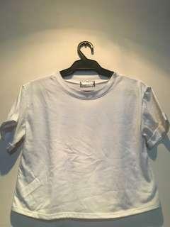 Plain white crop top