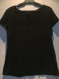 H&M Plain black top
