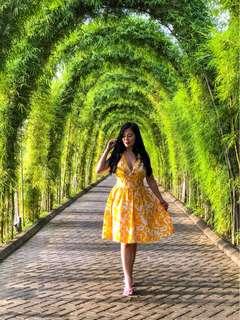 Yellow hq dress