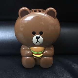 Line friends x McDonald's 2017 Brown fan 熊大風扇仔