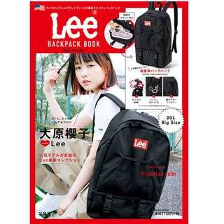 日本雜誌 Lee BACKPACK BOOK 附贈 潮牌 黑色 紅標 大容量 休閒後背包 雙肩包 肩背包 背包 書包