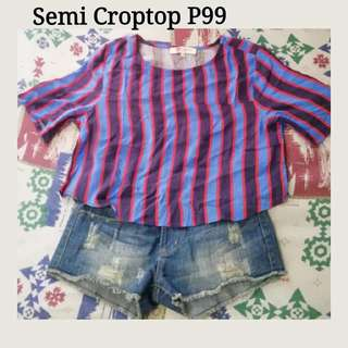 cute semi crop top