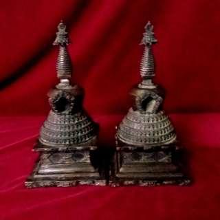 藏传密宗佛教的珍藏 - 古铜舍利宝塔
