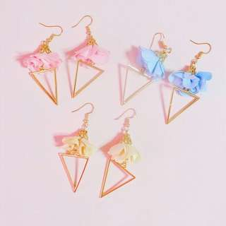 Elisse handmade tassel earrings