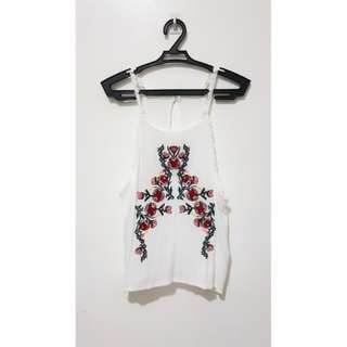 F21 inspired embroided top