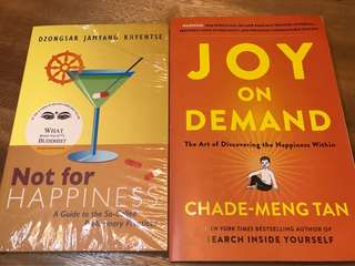 Buddhism book bundle: not for happiness and joy on demand : new!