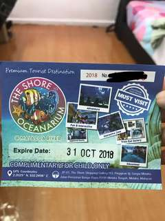 The shore oceanarium ticket