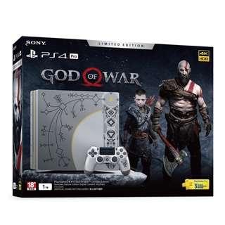 <Wanted徵> 行貨Sony PS4 Pro God of War 4 Limited Edition + Limited Edition Notebook 香港行貨戰神4限量版 + 限量版日記本