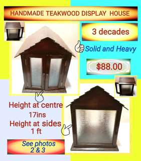 Handmade teakwood display house