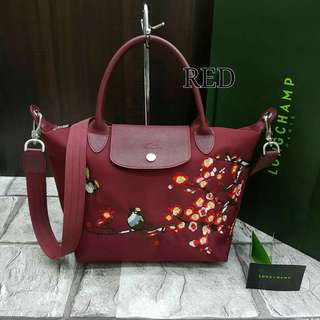 Longchamp Sakura Red