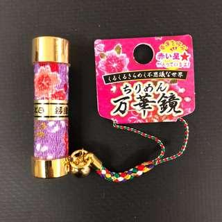Japan purple Floral Chirimen Handphone Strap Keychain
