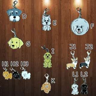 Dog Charm Pendants