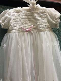 Trajecitos de Bebé Baptismal Gown/Dress