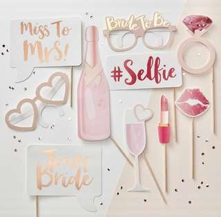 Hens night party celebration events bride to be barcholette photo props selfie shoot miss to mrs wedding games