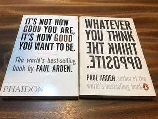 Design book bundle paul Arden: whatever you think you are, think the opposite