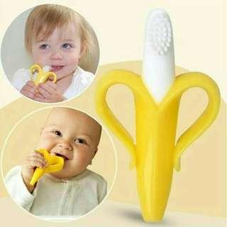 Teethear baby toothbruus / Banana sikat gigi pisang bayi