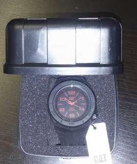 CAT 5 红黑色電子手錶