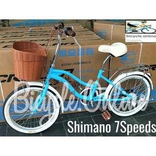 "CROLAN 20"" Commuter Street Bike ☆ Vintage design ☆ Shimano 7Speeds ☆ Brand New Bicycles"