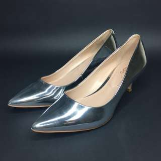 ALDO Silver Pointed Shoes #kasutraya