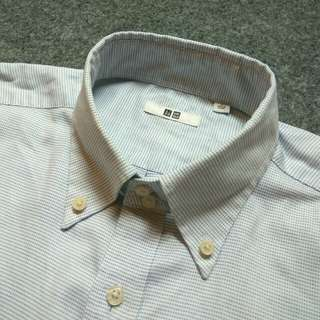 UNIQLO Button Down Print Shirt Long Sleeve Size L