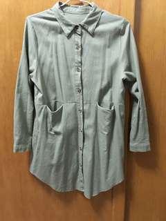 🚚 綠色襯衫外套