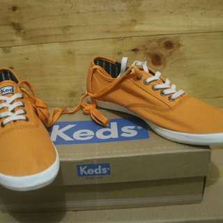 Keds champion solid army trainers Orange shoes original Brand New replace box