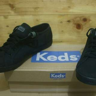 Keds mens casual black canvas shoes original Brand New in box