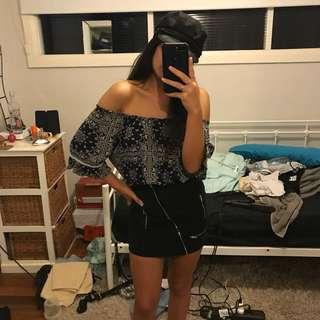 Suede Peppermayo Skirt