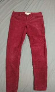 Celana J.Crew curdoray merah maroon