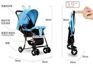 Folding stroller  pwd higa   2color blue pink