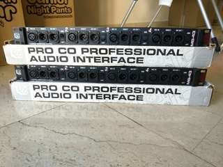 Price NEGO! 3 x 4 channel input; 12 output mic splitter. Text for a quick deal!