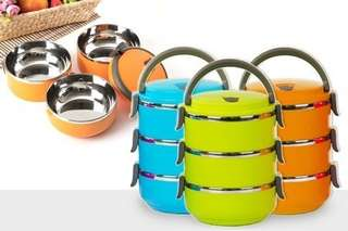 3 Layer Stainless Steel Lunch Box
