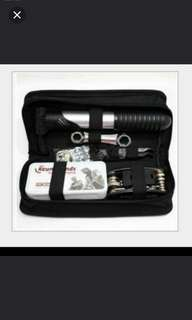 Brand new bicycle repair kit for easy repair and storage
