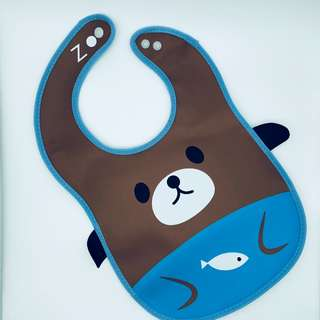 Waterproof Cute Animal Cartoon Infant/Baby Bibs Feeding Towel w Food Pocket