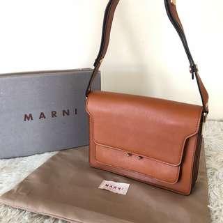 MARNI Saffiano Leather Trunk Bag