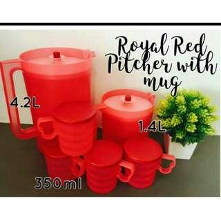 Royal Red Pitchers & Mugs