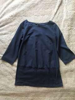 FCUK blue shirt