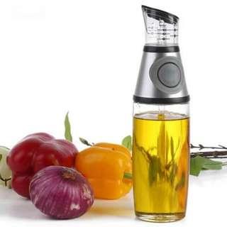Measurable Oil Dispenser No-Drip Spout 500ml Kitchen Glass Gravy Boat Olive Oil Vinegar Dispenser Pourer Bottle Cooking Tools Tableware Leakproof